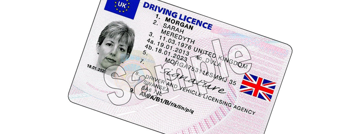 UK driving licence as ID for a canalpost mailbox account